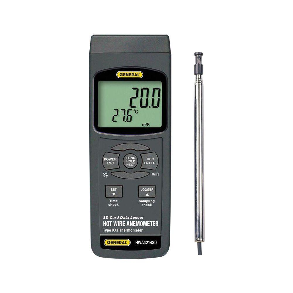 Data Logging Hot Wire Anemometer-Thermometer