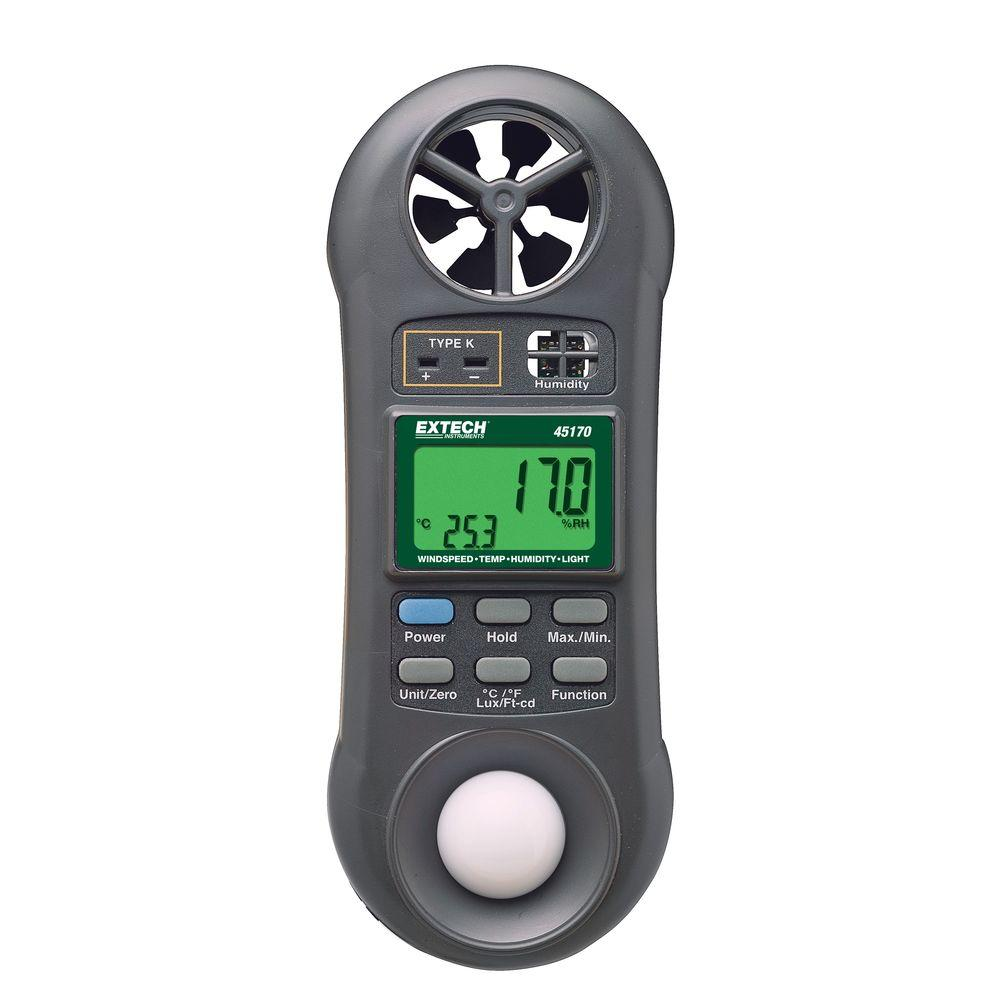 Mini Thermo-Anemometer Plus Light Meter