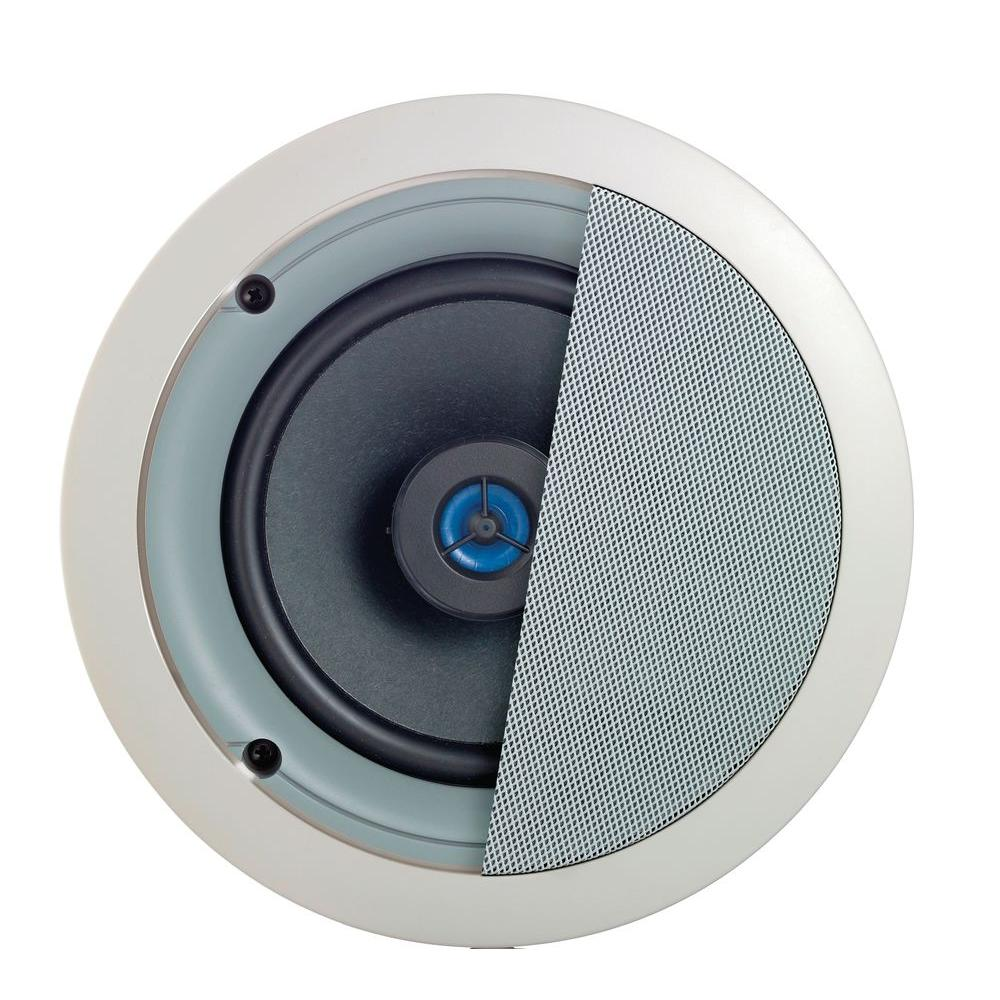 Spec-Grade Sound 120-Watt 2-Way In-Ceiling Speakers, White (1-Pair)